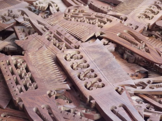 Image result for wooden carved combs in nagina